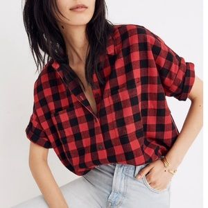 Madewell buffalo plaid flannel shirt M